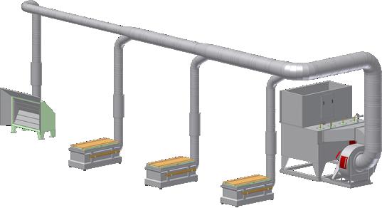 Solution Line - Impianto d'aspirazione centralizzato con abbattimento ad acqua - Centroventilazione Srl